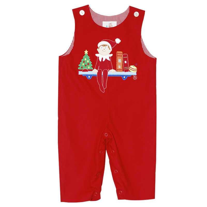The elf on the shelf line includes hand smocked embroidery and